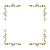 gold invitation frames