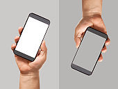 hand holding smart phone  screen
