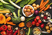Colorful fresh organic vegetables background