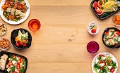 Lunch in office daily menu, mockup, copy space
