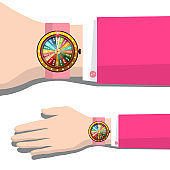 Wheel of Fortune Clock on Hand