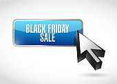 Black Friday sale online button sign concept