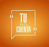 your vote counts in Spanish line quote message
