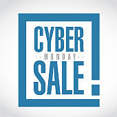 Cyber Monday Sale exclamation box message