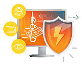 Cyber Security Concept - Illustration