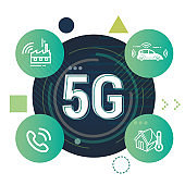 Telecom Technology 5G Advantage Illustration