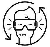 Virtual Reality Headgear - Icon