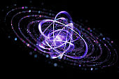Atom, abstract scientific background