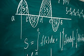 Mathematics lesson differential and integral calculus Chalkboard.