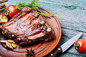 Grilled barbecue pork rib