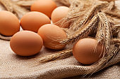 Eggs and wheat