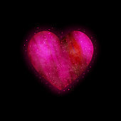 Bright glowing heart