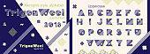 Memphis style decorative alphabet, typeface. Pop art font for slogan graphic print, hipster fashion, geometric pattern, vintage poster