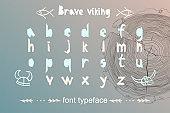 Modern alphabet in paper cut style. Scandinavian theme for great design logo, kids posters, t-shirt, font pattern