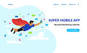 Super mobile app and social networks