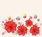 Blooming spring flowers, springtime