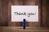 Thank You Text With Wooden Background