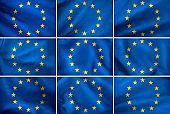 image of euro-union flag close-up
