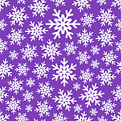 White snowflake on gradient background. Vector icon