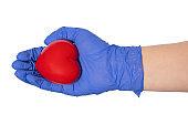 Medicine. Heart in hand