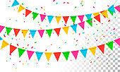 Vector Illustration Banderol Party Celebration Background