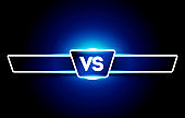Vector VS Logo. Versus Board of rivals, with space for text. For Games and Sports