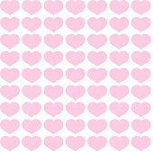 Seamless pattern from pink hearts on a white background Decorative ornament of hearts for design of templates greeting cards banners posters for Valentine's Day Romantic pattern for wallpaper Vector