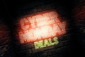 Cyber Monday deals neon sign