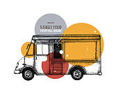 Vector fast food truck design