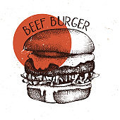 Vector burger sketch