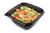 Caesar salad isolated