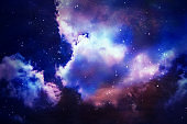 Abstract star and nebular and galaxy on sky background