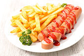 sausage and french fries