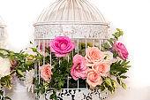 Bridal Flowers Arrangement in Birdcage