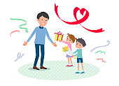 Present for loved ones_Children give to father2