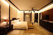 Comfortable hotel bedroom