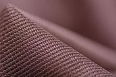 Brown fabric grid textile material texture macro