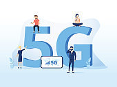5g network technology vector illustration. Wireless mobile telecommunication service concept. Concept for marketing site