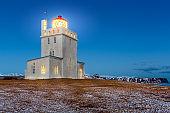 Dyrholaey lighthouse at dusk
