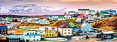 Stykkisholmur colorful icelandic houses