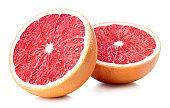 Two halves of grapefruit