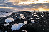 Ice blocks on Diamond beach, Iceland