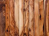 Olive wood planks background