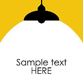 Bright Lighting Spotlights Lamp with Empty Space for Your Text or Object. Vector Illustration
