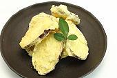 Tempura of japanese sweet potato,
