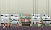 Pet shop concept vector flat illustration