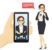 Businesswoman video chat