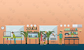 Pet shop concept vector illustration in flat style