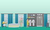 Spa aqua therapy concept vector flat illustration