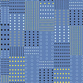 Trendy rertro polka dots mix pattern prints seamless vector for fashion fabric and all prints